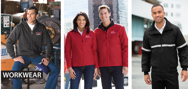 workwear jackets collage