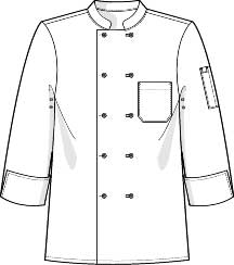 Executive Chef Coat Line drawing